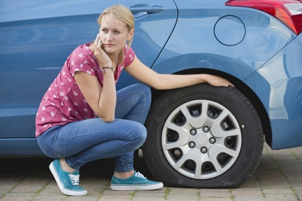 fixing flat tyres is part of the service