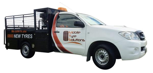 Mobile tyre shop Hilux Ute
